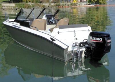 Finnische Motorboot aus Aluminium Silver FOX