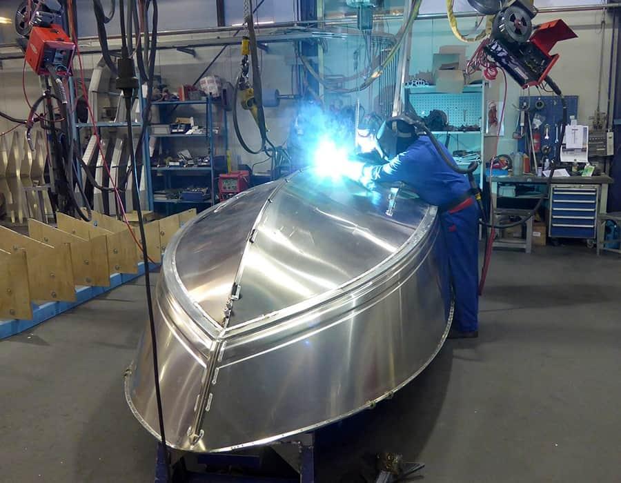 Schweissen Silver Werft Bootbau