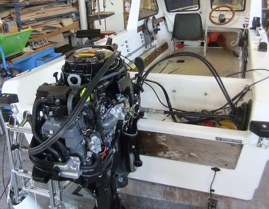 Neumotorisierung Thoma Fischerboot Aussenborder