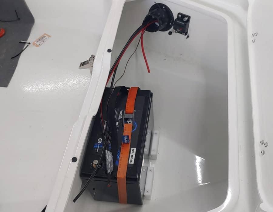 Lithium-Eisen Versorgungsbatterie installation