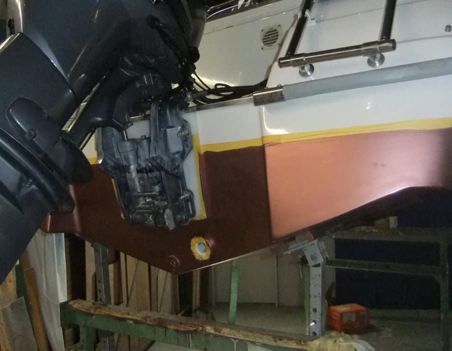 Unterwasser Beschichtung Yamarin Boot