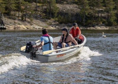 Terhi 385 Ruderboot mit 4 PS Suzuki motor