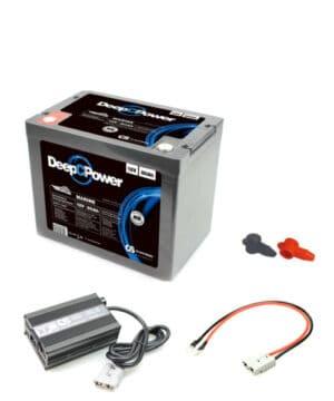 Batterie Set Versorger mit 80AH und Ladegerät 15A