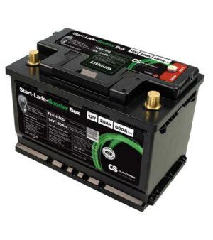 Starterbatterie mit Lithium-Ladebooster-Box